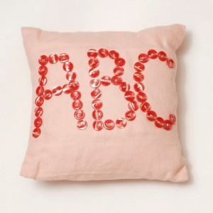 ABC Button Cushion