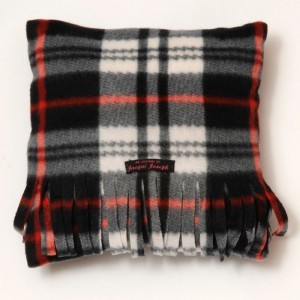 Black & White Tartan Cushion