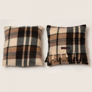 Chocolate Tartan Cushion