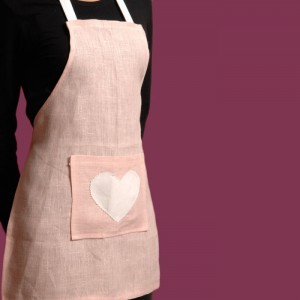 Pink Linen Childs Apron