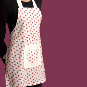Polka Dot Childs Apron 7- 14 years