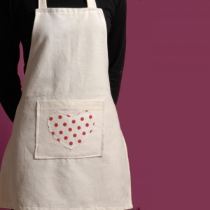 White Heart Child Apron 7 -14 Years
