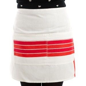 Red Stripe Adult Apron
