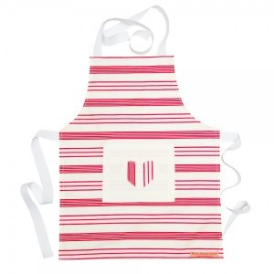 Candy Pink Stripe Childs Apron 2-5 years
