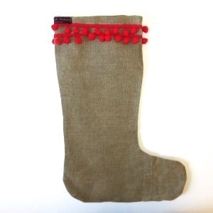 Adults Hessian Christmas stocking