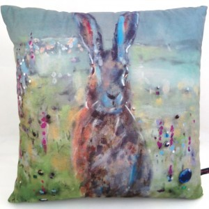Sunrise Hare Cushion