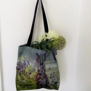 Sunrise Hare Tote Bag