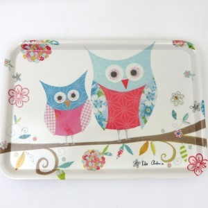 Happy Owls Large Serving Tray