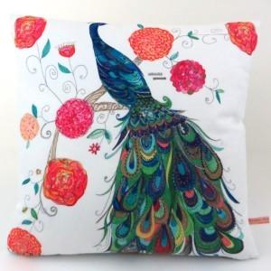 Splendid Peacock Cushion