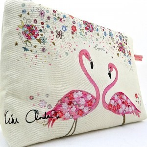 Pink Flamingo Wash/Clutch Bag