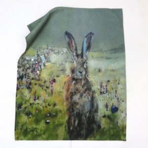 Sunrise Hare Tea Towel