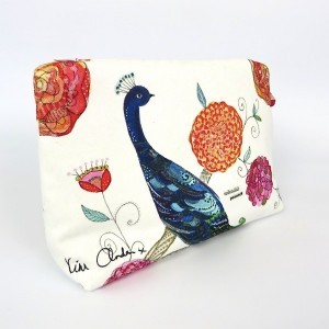 Splendid Peacock Wash/Clutch Bag