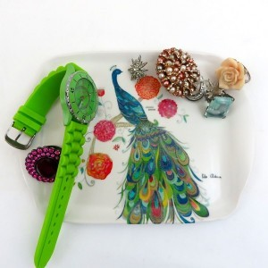 Splendid Peacock Scatter Tray