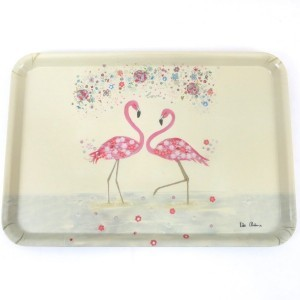 Pink Flamingo Large Serving Tray
