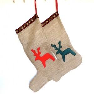 Nordic Sack Cloth Christmas stocking