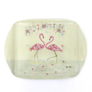 Pink Flamingo Medium Serving Tray