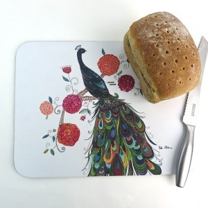 Splendid Peacock Kitchen Board