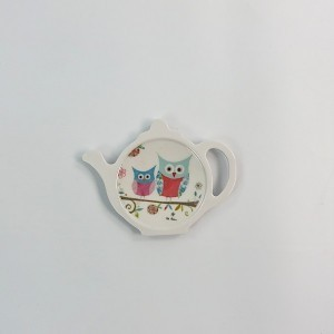 Happy Owls Spoon/Teabag Tidy