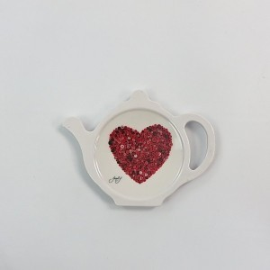 Red Button Heart Spoon/Teabag Tidy