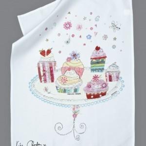 Cupcake Delights Tea Towel