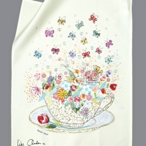 Joyous Teacup Tea Towel