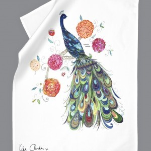 Splendid Peacock Tea Towel