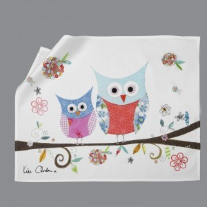 Happy Owls Tea Towel