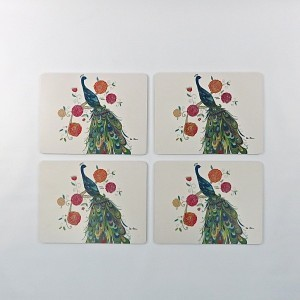 Splendid Peacock Set of 4 Placemats