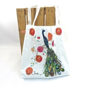 Splendid Peacock Tote Bag