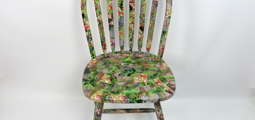 From Drab to Fab…..Decoupage Chair