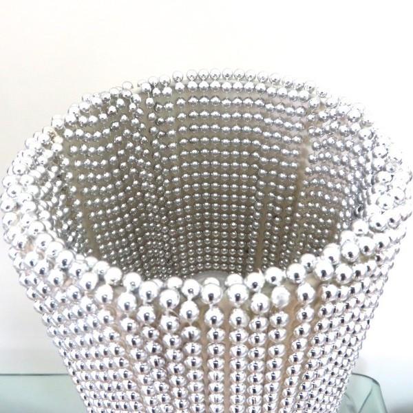 Silver beaded lampshade upcycle jacqui joseph designs silver beaded lampshade upcycle aloadofball Choice Image