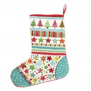 Heirloom Christmas stocking – Teal