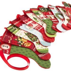 Yuletide Christmas Stocking Bunting